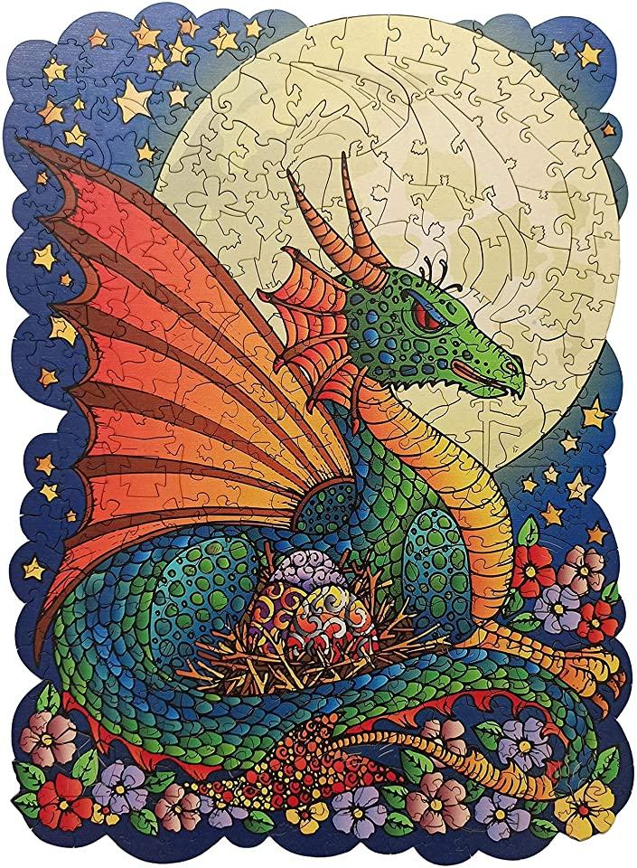 Moon Dragon Jigsaw Puzzle