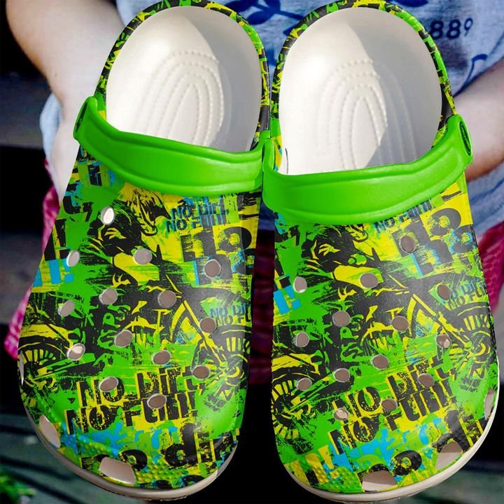 Motor Dirt Fun Crocs Clog Shoes
