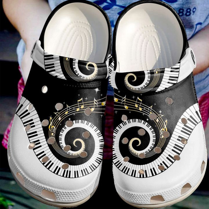 Music Lovers Crocs Clog Shoes
