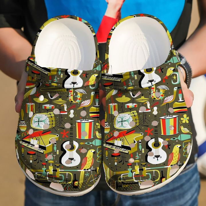 Music Pattern Crocs Clog Shoes