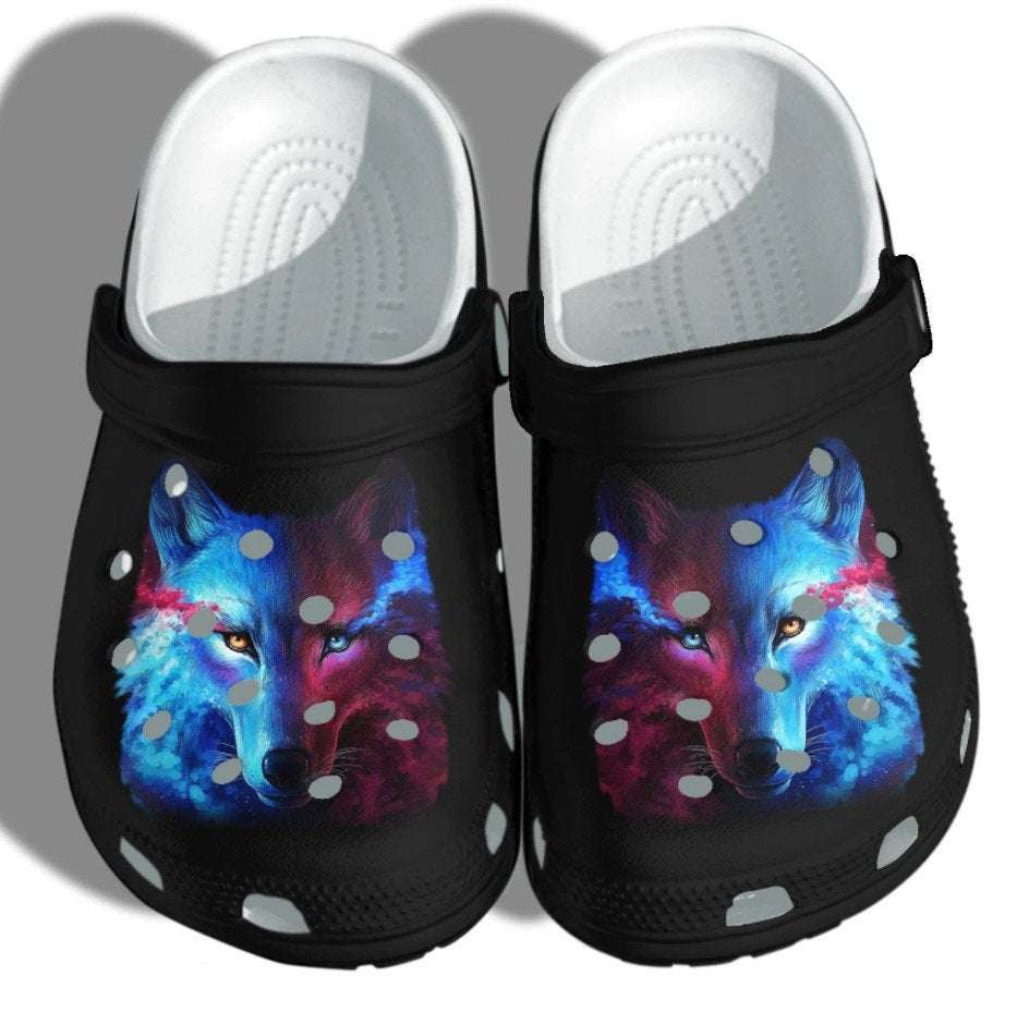 Mystery Wolf Crocs Clog Shoes