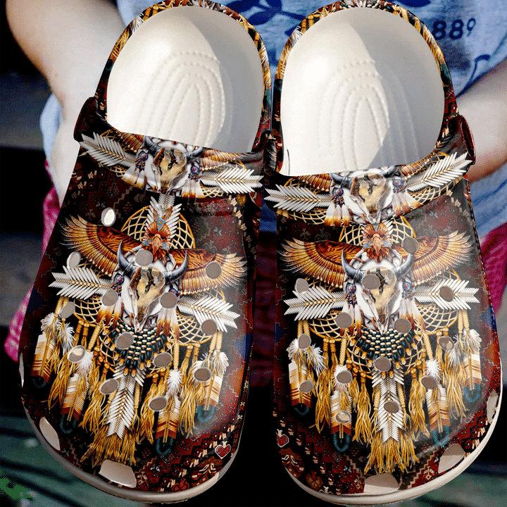 Native American Crocs Clog Shoes