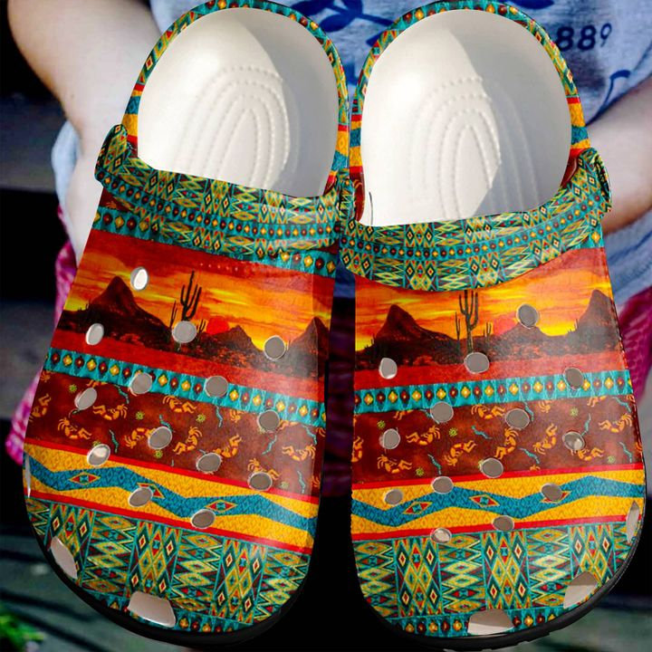 Native American Stunning Pattern Crocs Clog Shoes