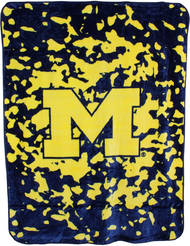 Ncaa Throw Blanket Michigan Wolverines Fleece Blanket