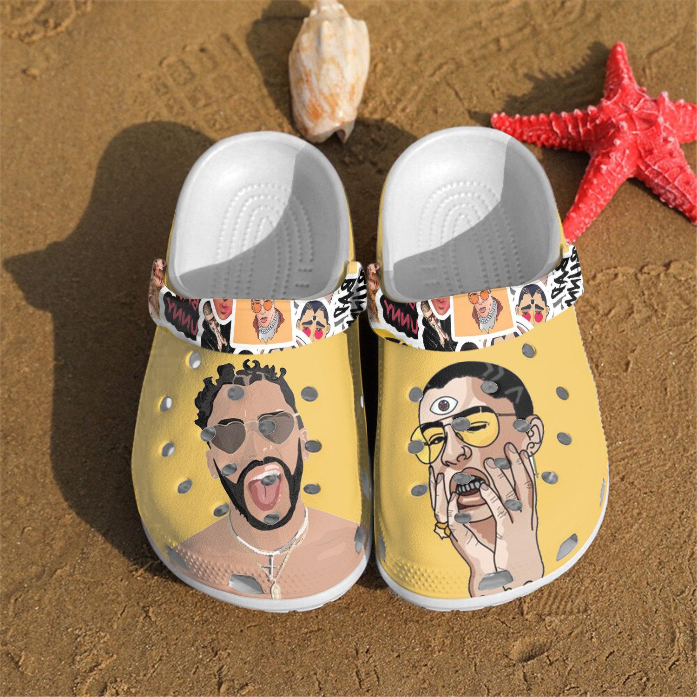 New Bad Bunny Crocs Clog Shoes