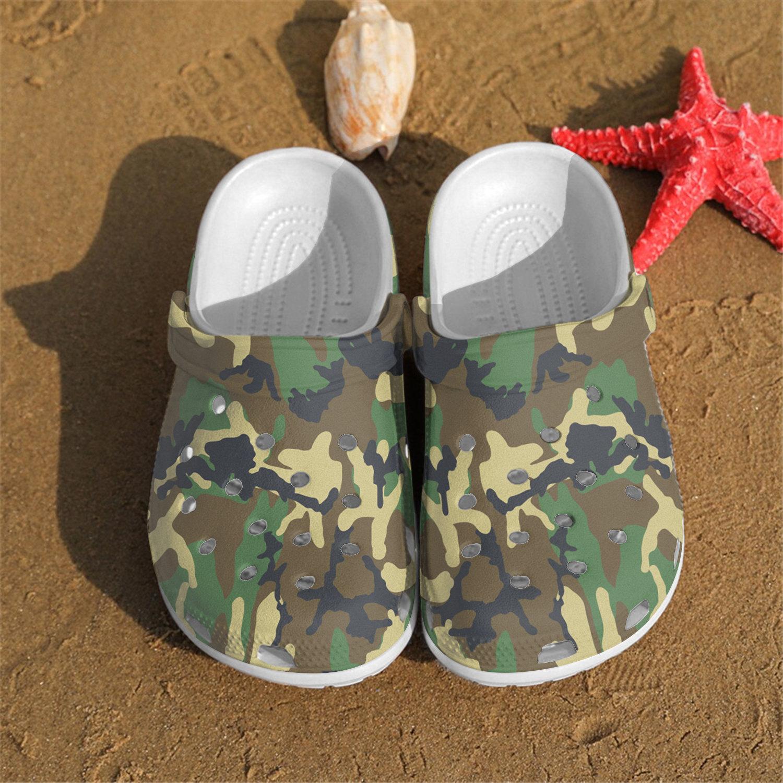 New Camo Crocs Clog Shoes