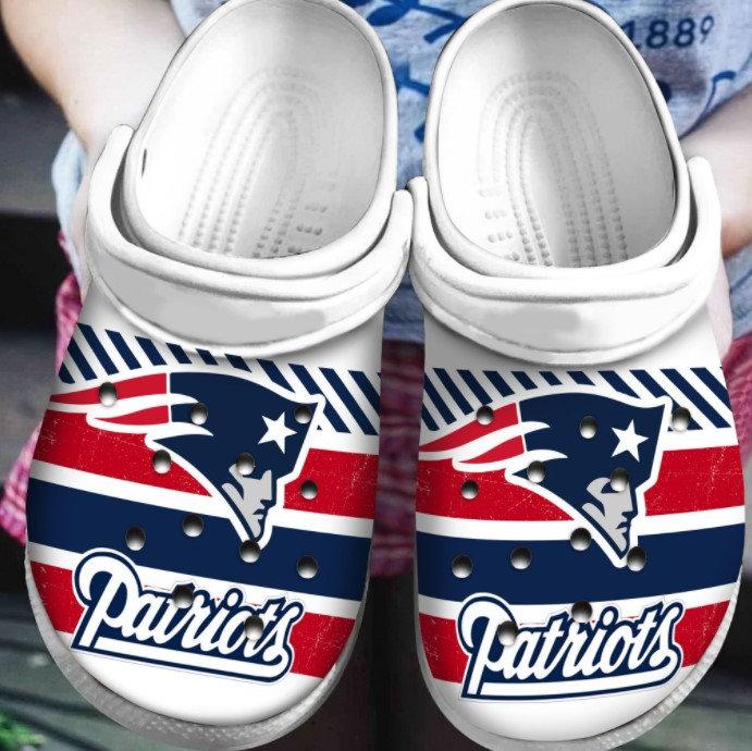 New England Patriots Crocs Clog Shoes