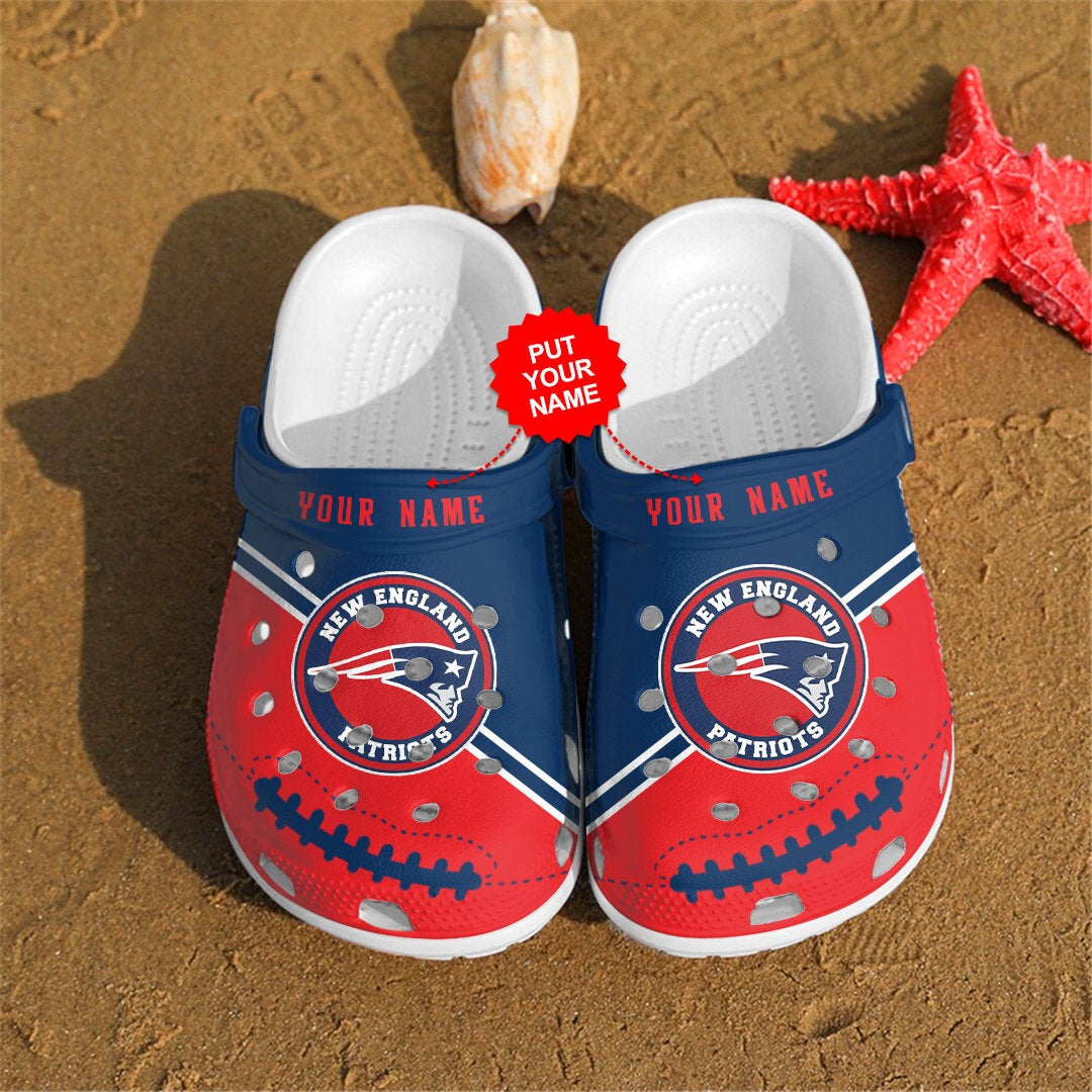 New England Patriots Personalized Custom For Nfl Fans Crocs Clog Shoes