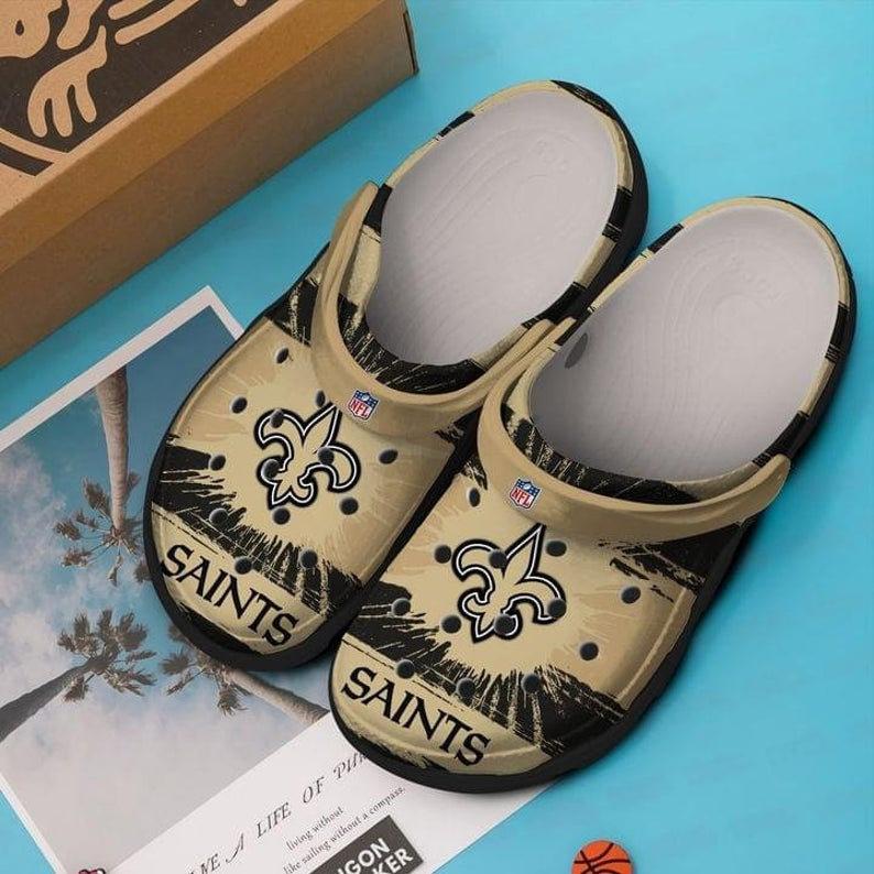 New Orleans Saints Crocs Clog Shoes