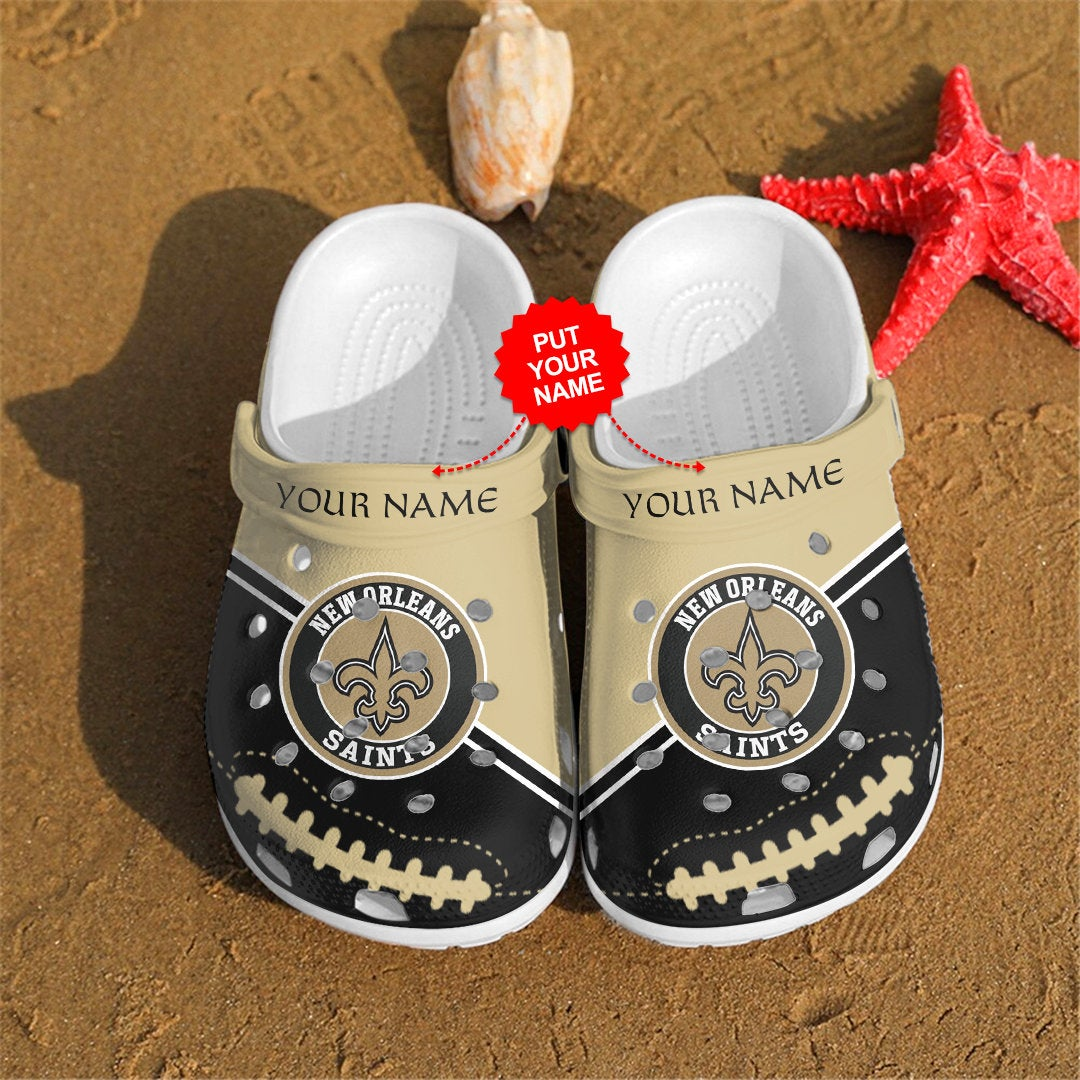 New Orleans Saints Personalized Custom For Nfl Fans Crocs Clog Shoes