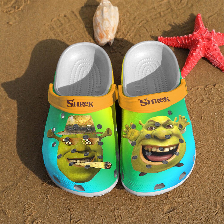 New Shrek Funny Crocs Clog Shoes