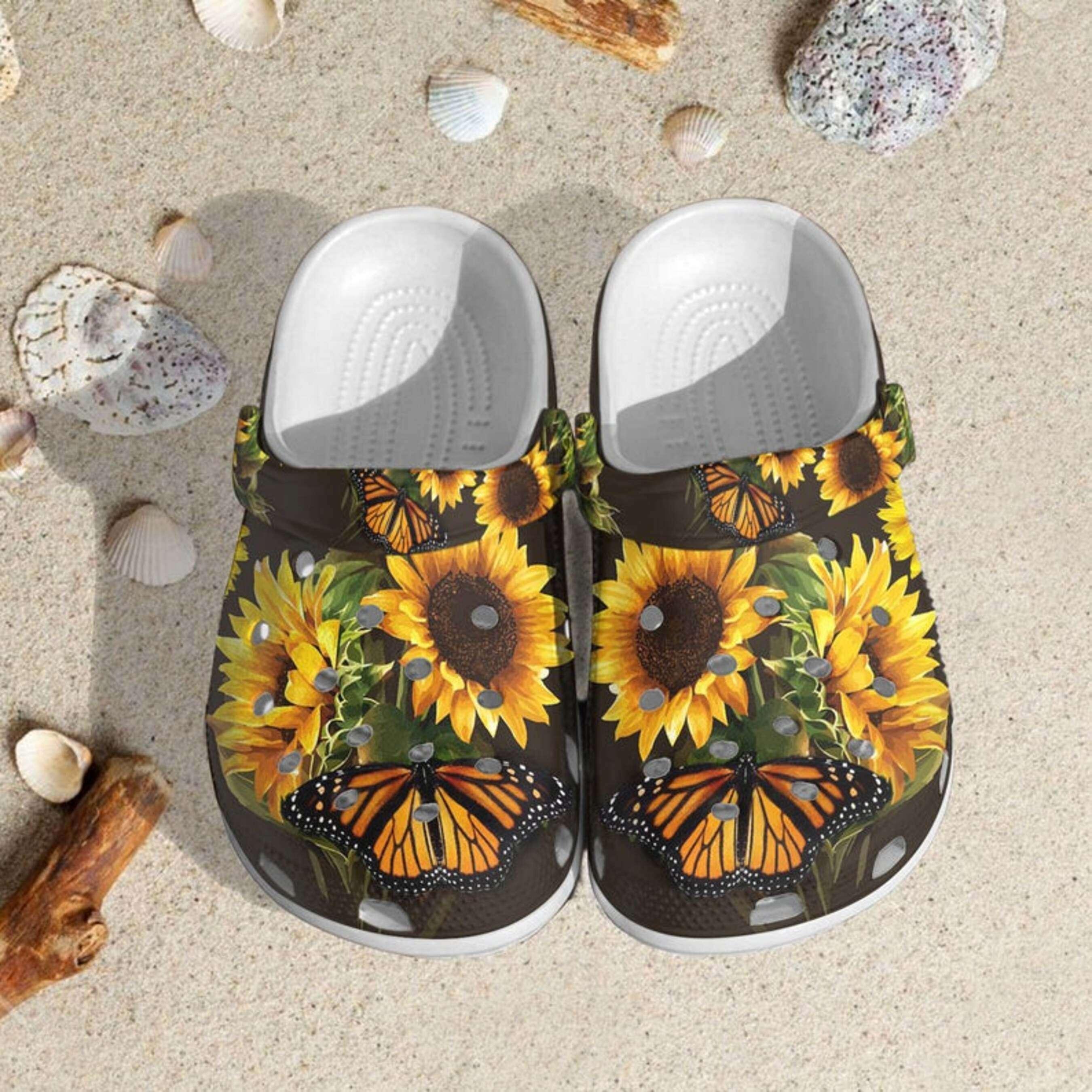 New Sunflowers Crocs Clog Shoes