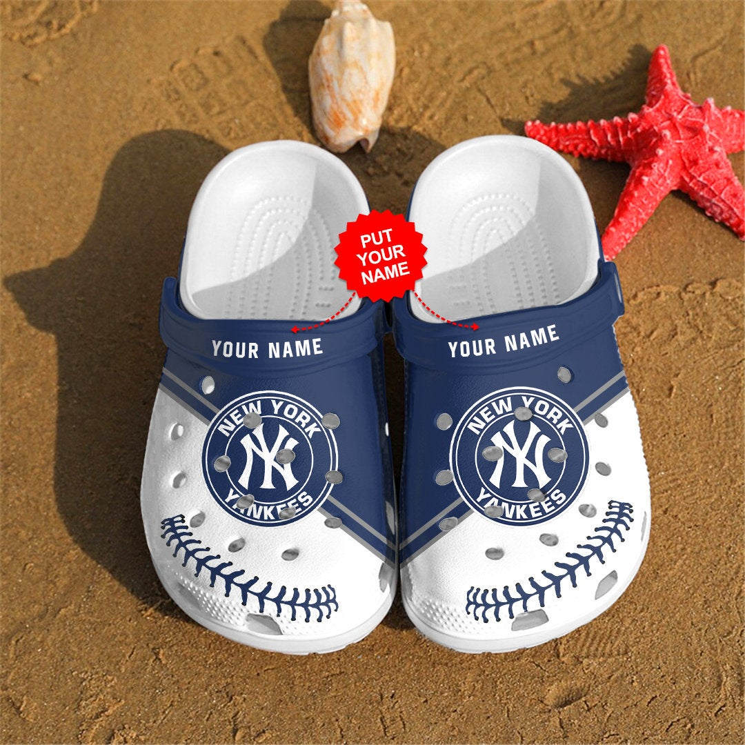 New York Yankees Personalized For Mlb Fans Crocs Clog Shoes