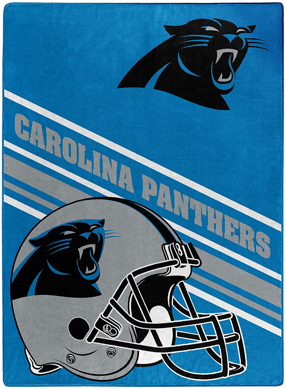 Nfl Team Logo Throw Carolina Panthers Fleece Blanket