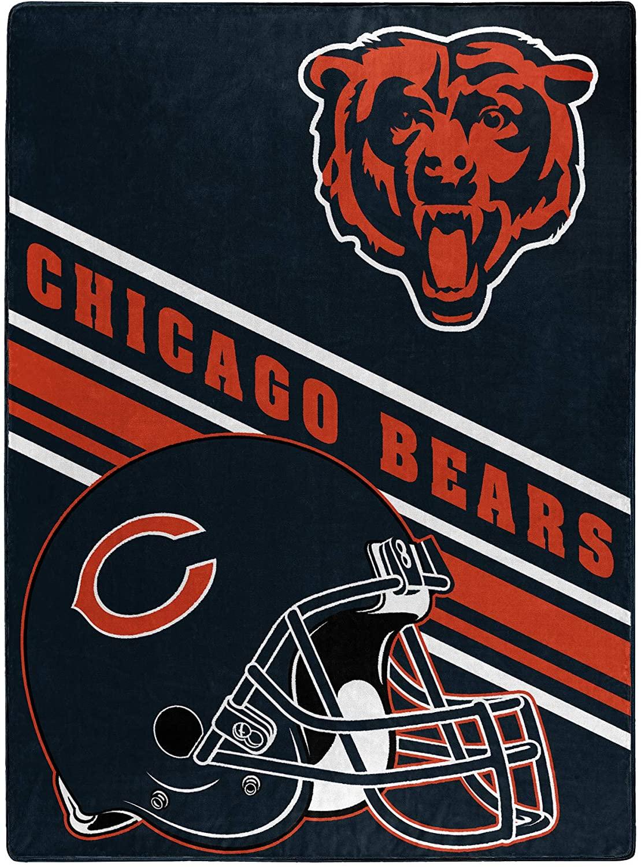 Nfl Team Logo Throw Chicago Bears Fleece Blanket