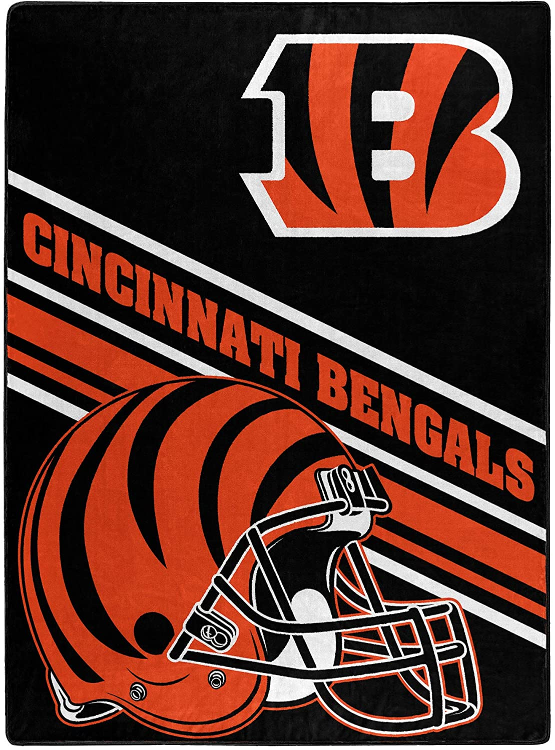 Nfl Team Logo Throw Cincinnati Bengals Fleece Blanket