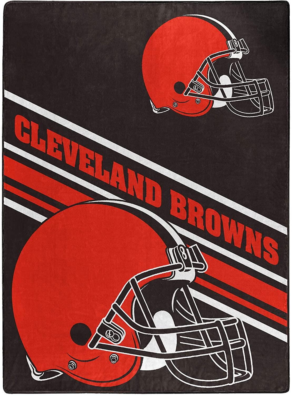 Nfl Team Logo Throw Cleveland Browns Fleece Blanket