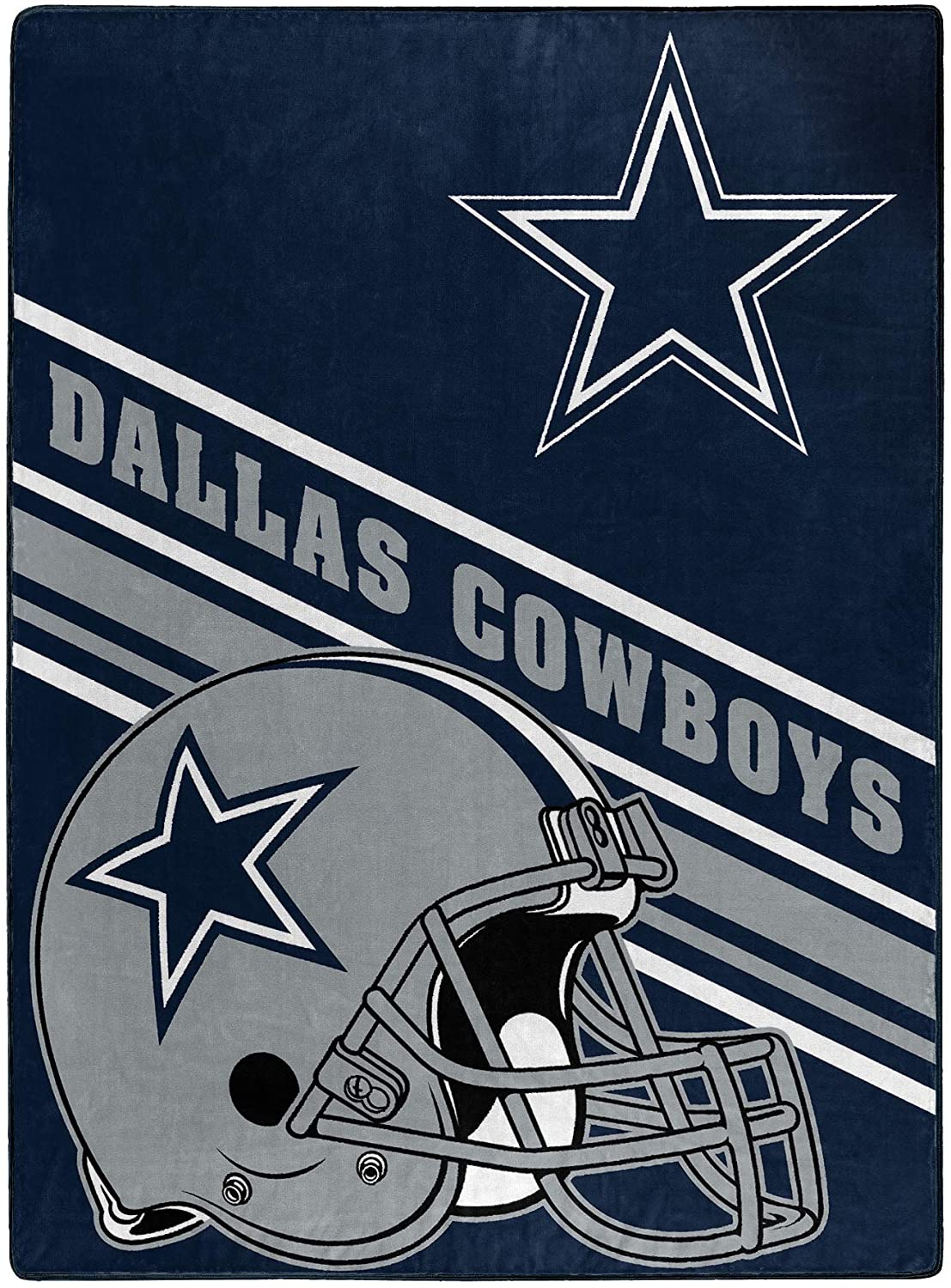 Nfl Team Logo Throw Dallas Cowboys Fleece Blanket