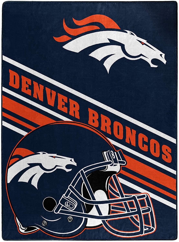 Nfl Team Logo Throw Denver Broncos Fleece Blanket
