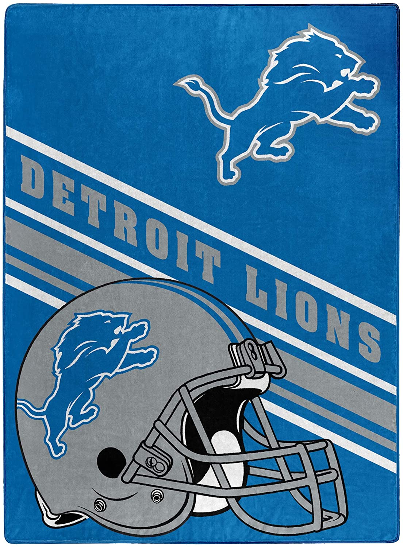 Nfl Team Logo Throw Detroit Lions Fleece Blanket