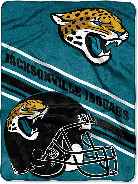 Nfl Team Logo Throw Jacksonville Jaguars Fleece Blanket