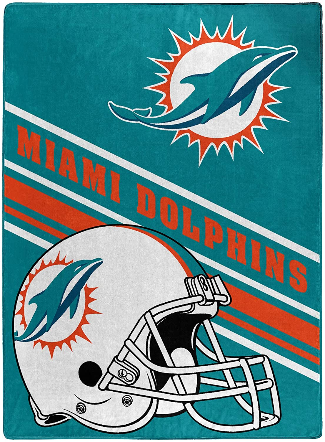 Nfl Team Logo Throw Miami Dolphins Fleece Blanket