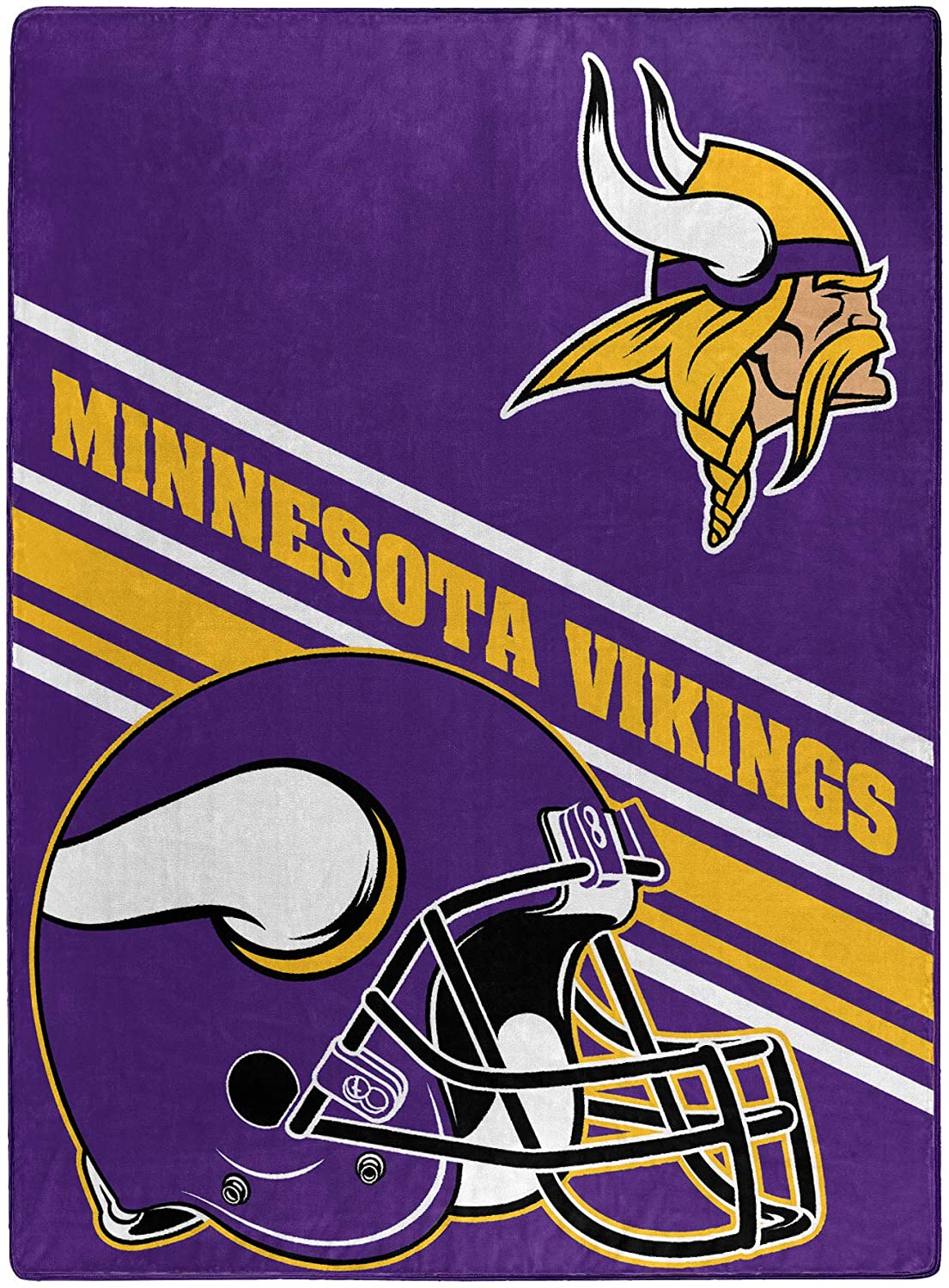 Nfl Team Logo Throw Minnesota Vikings Fleece Blanket