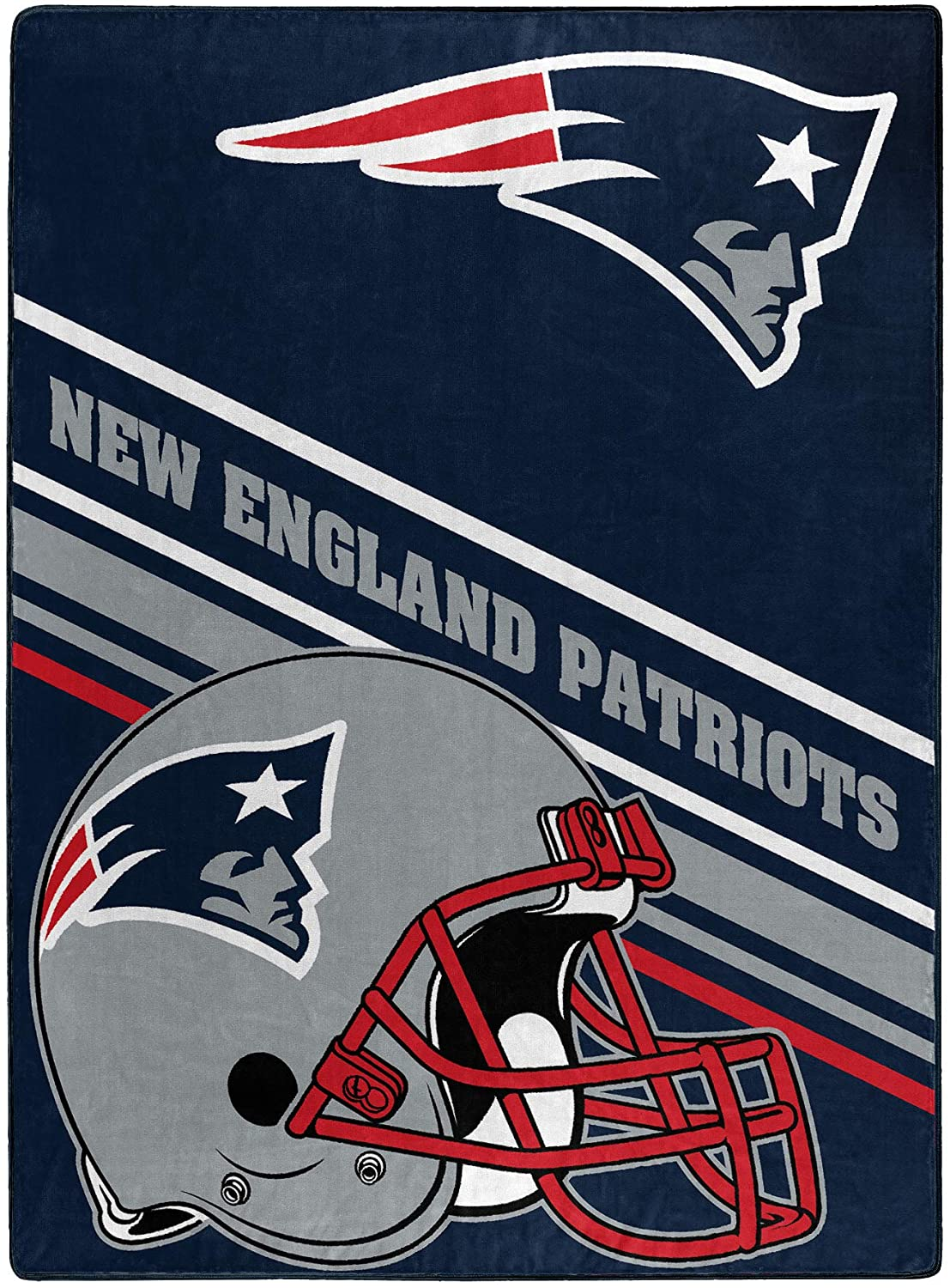 Nfl Team Logo Throw New England Patriots Fleece Blanket