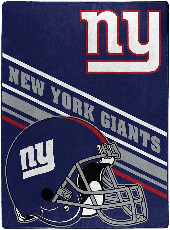 Nfl Team Logo Throw New York Giants Fleece Blanket