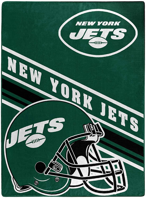 Nfl Team Logo Throw New York Jets Fleece Blanket