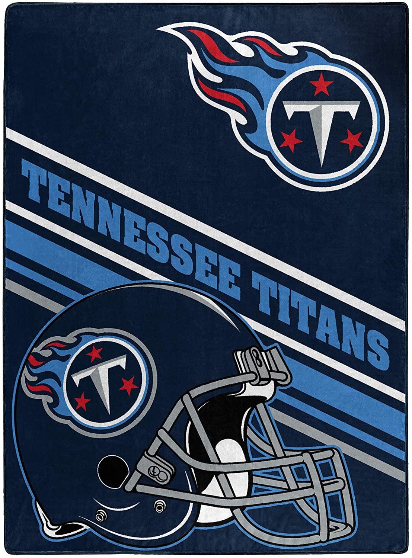 Nfl Team Logo Throw Tennessee Titans Fleece Blanket