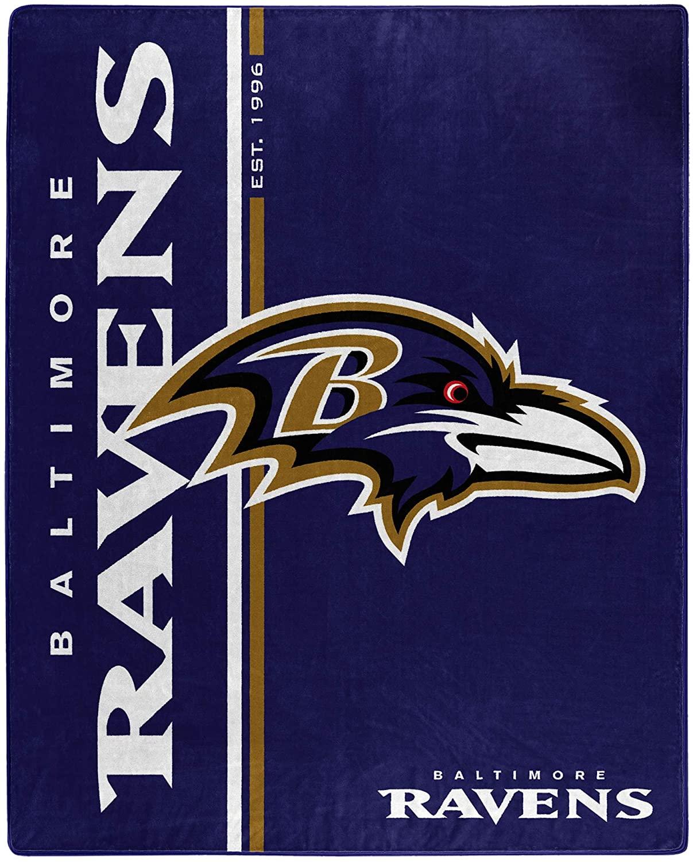 Nfl Throw Baltimore Ravens Team Colors Fleece Blanket