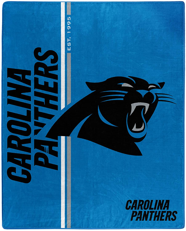 Nfl Throw Carolina Panthers Team Colors Fleece Blanket