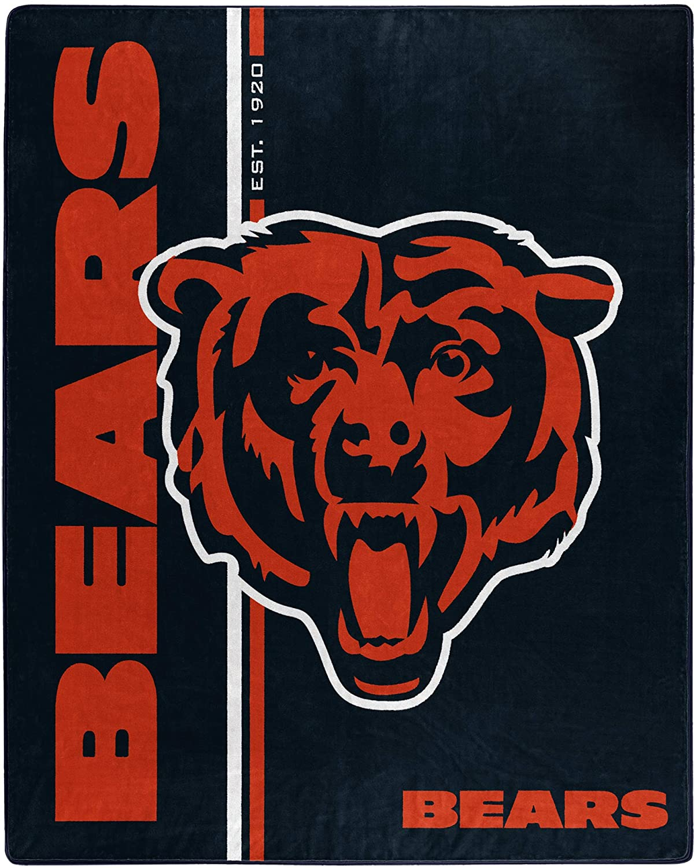 Nfl Throw Chicago Bears Team Colors Fleece Blanket