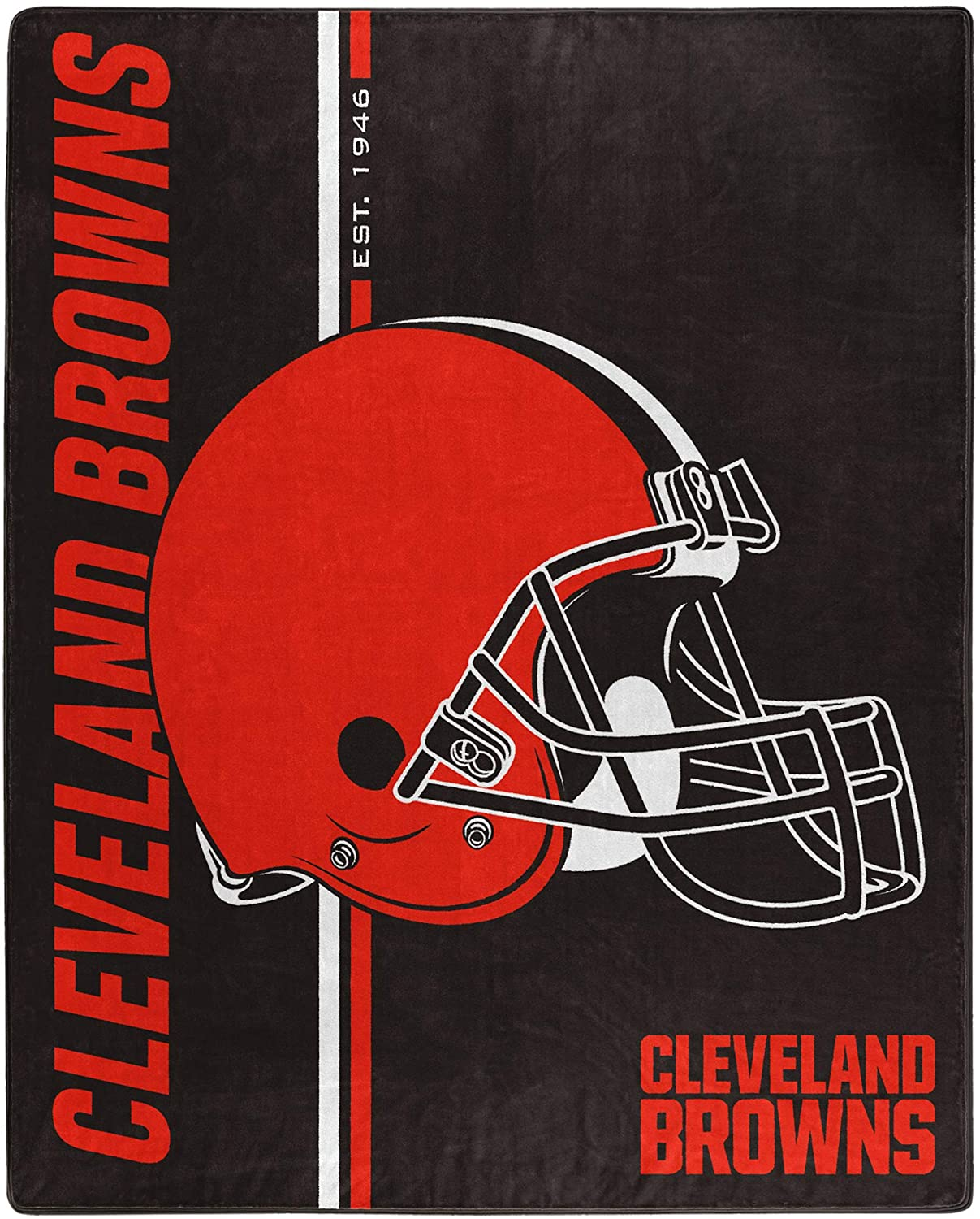 Nfl Throw Cleveland Browns Team Colors Fleece Blanket