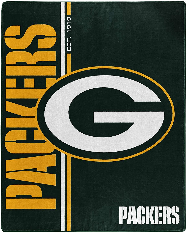 Nfl Throw Green Bay Packers Team Colors Fleece Blanket