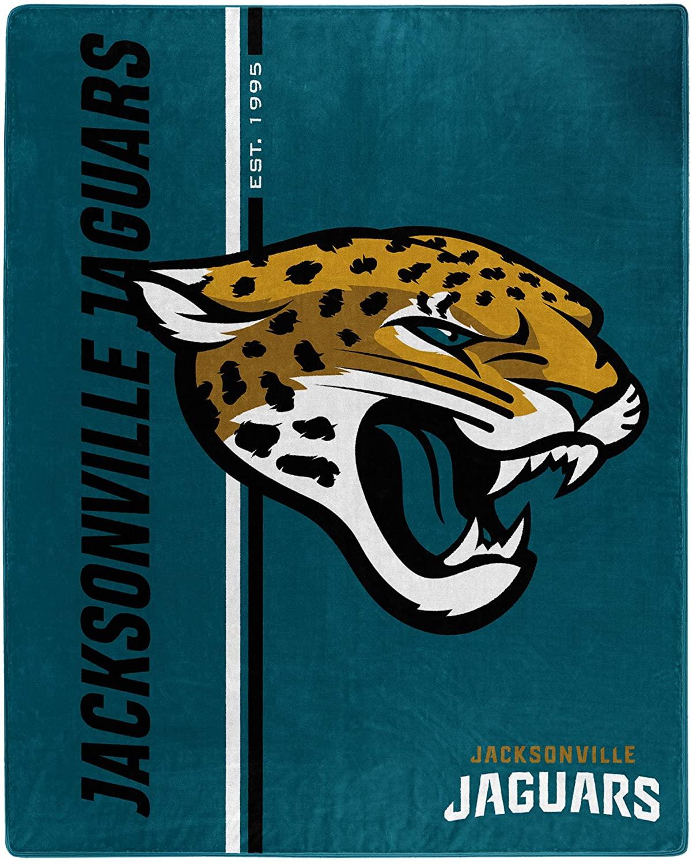 Nfl Throw Jacksonville Jaguars Team Colors Fleece Blanket