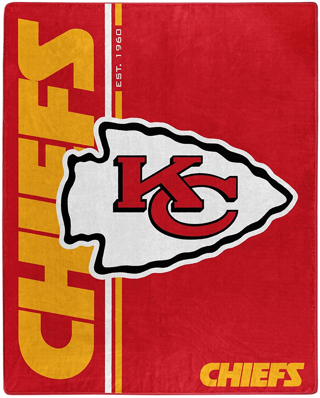 Nfl Throw Kansas City Chiefs Team Colors Fleece Blanket
