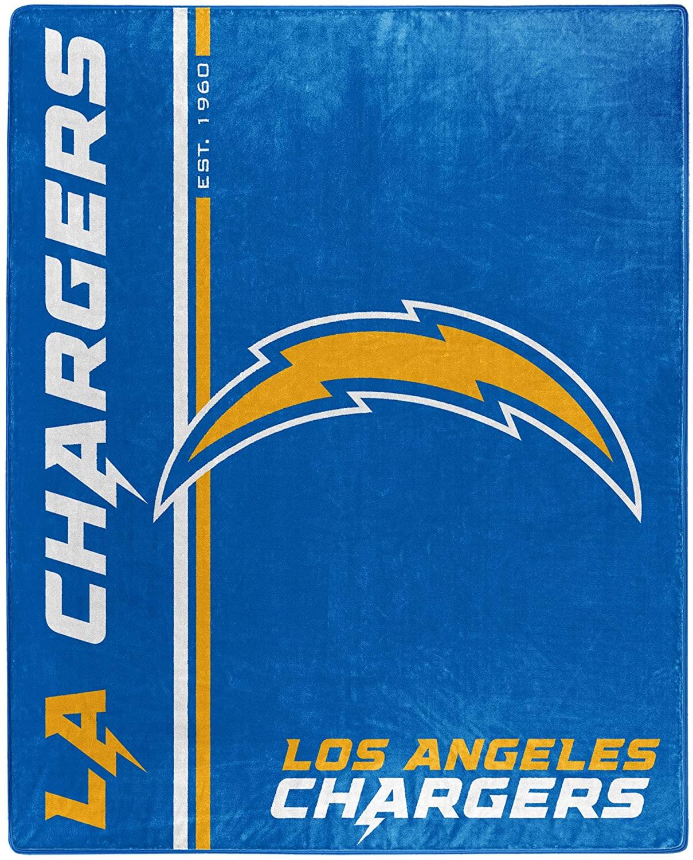 Nfl Throw Los Angeles Chargers Team Colors Fleece Blanket