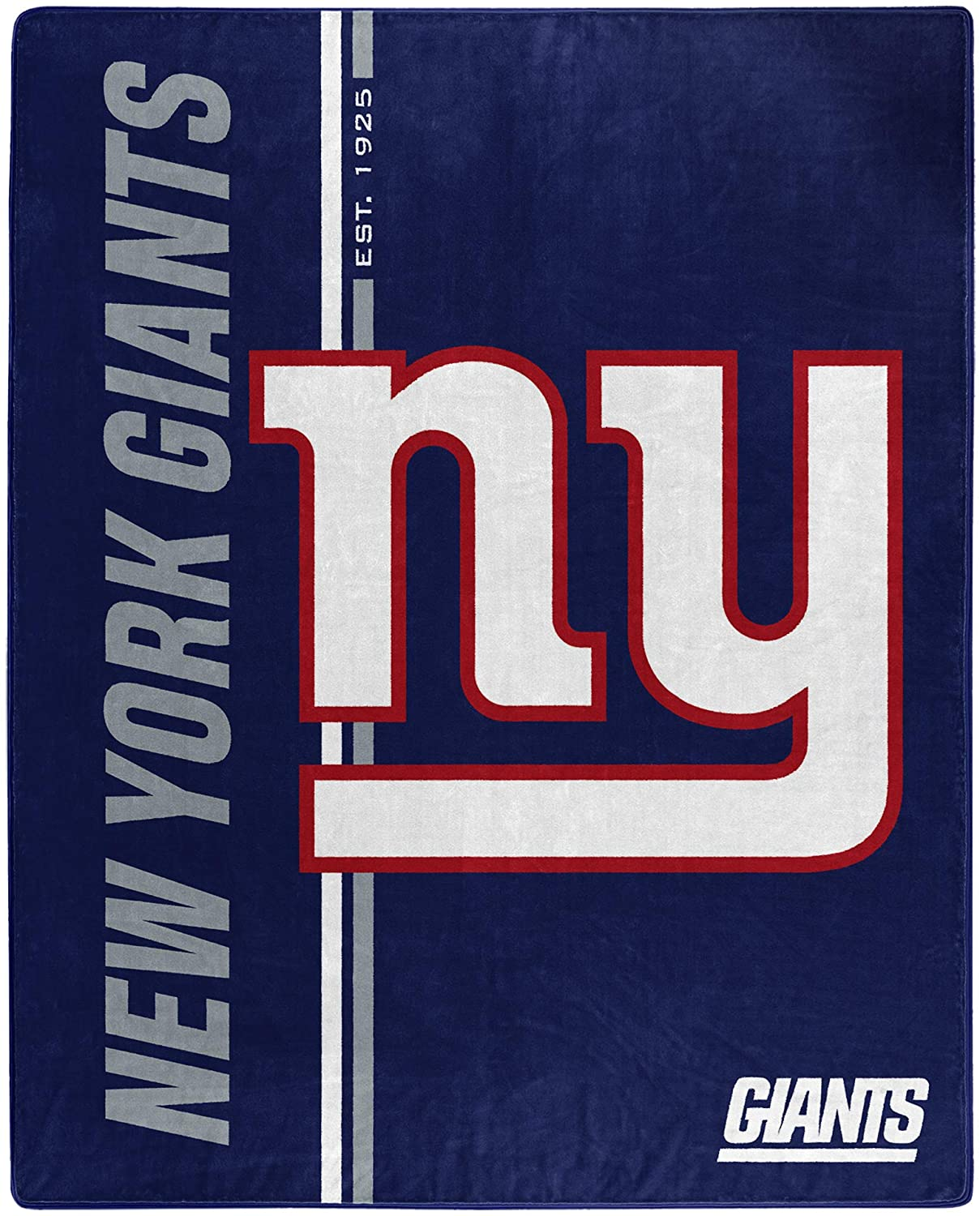 Nfl Throw New York Giants Team Colors Fleece Blanket