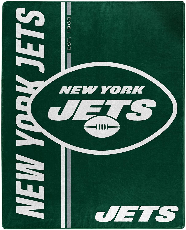 Nfl Throw New York Jets Team Colors Fleece Blanket
