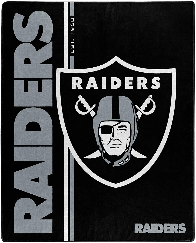 Nfl Throw Oakland Raiders Team Colors Fleece Blanket