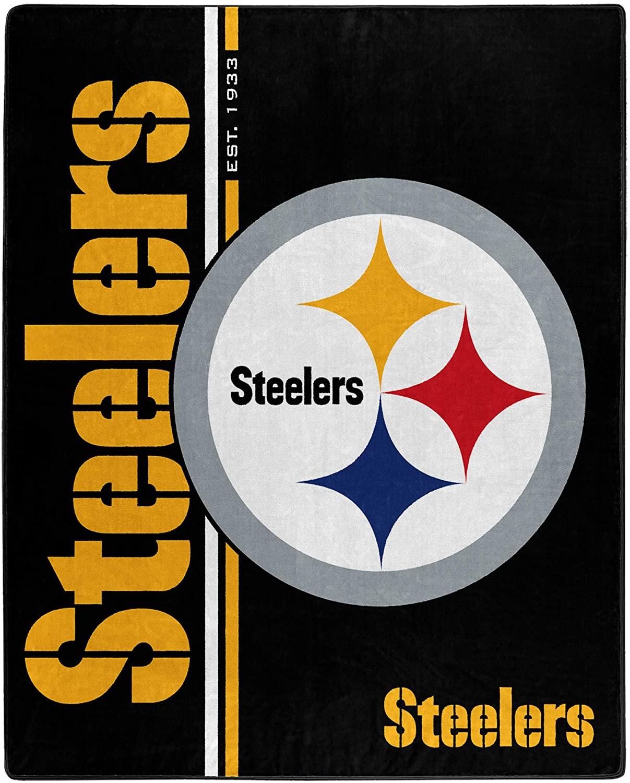 Nfl Throw Pittsburgh Steelers Team Colors Fleece Blanket
