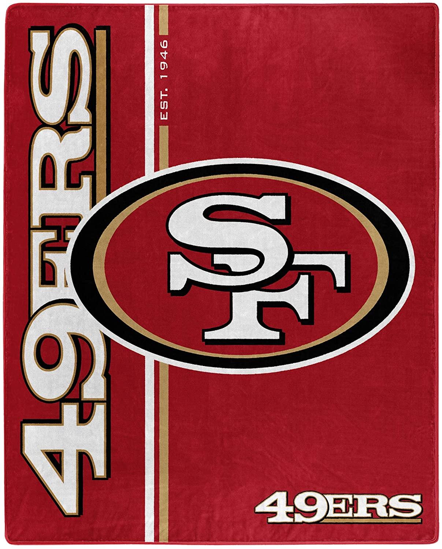 Nfl Throw San Francisco 49ers Team Colors Fleece Blanket