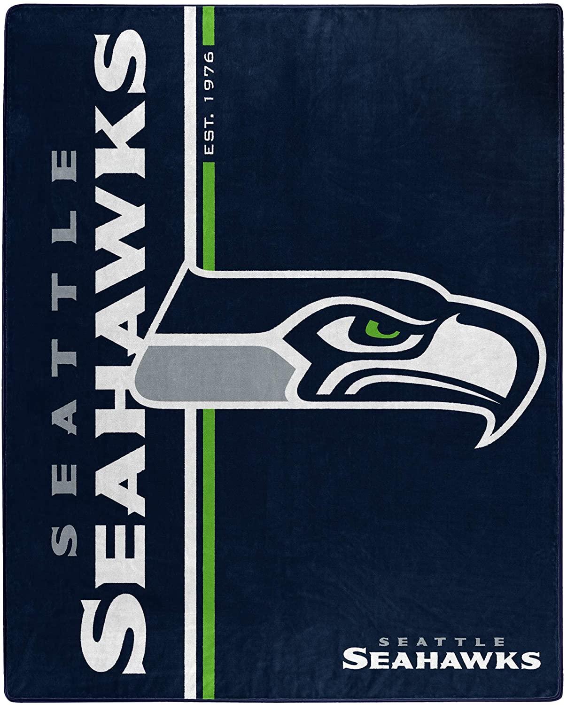 Nfl Throw Seattle Seahawks Team Colors Fleece Blanket