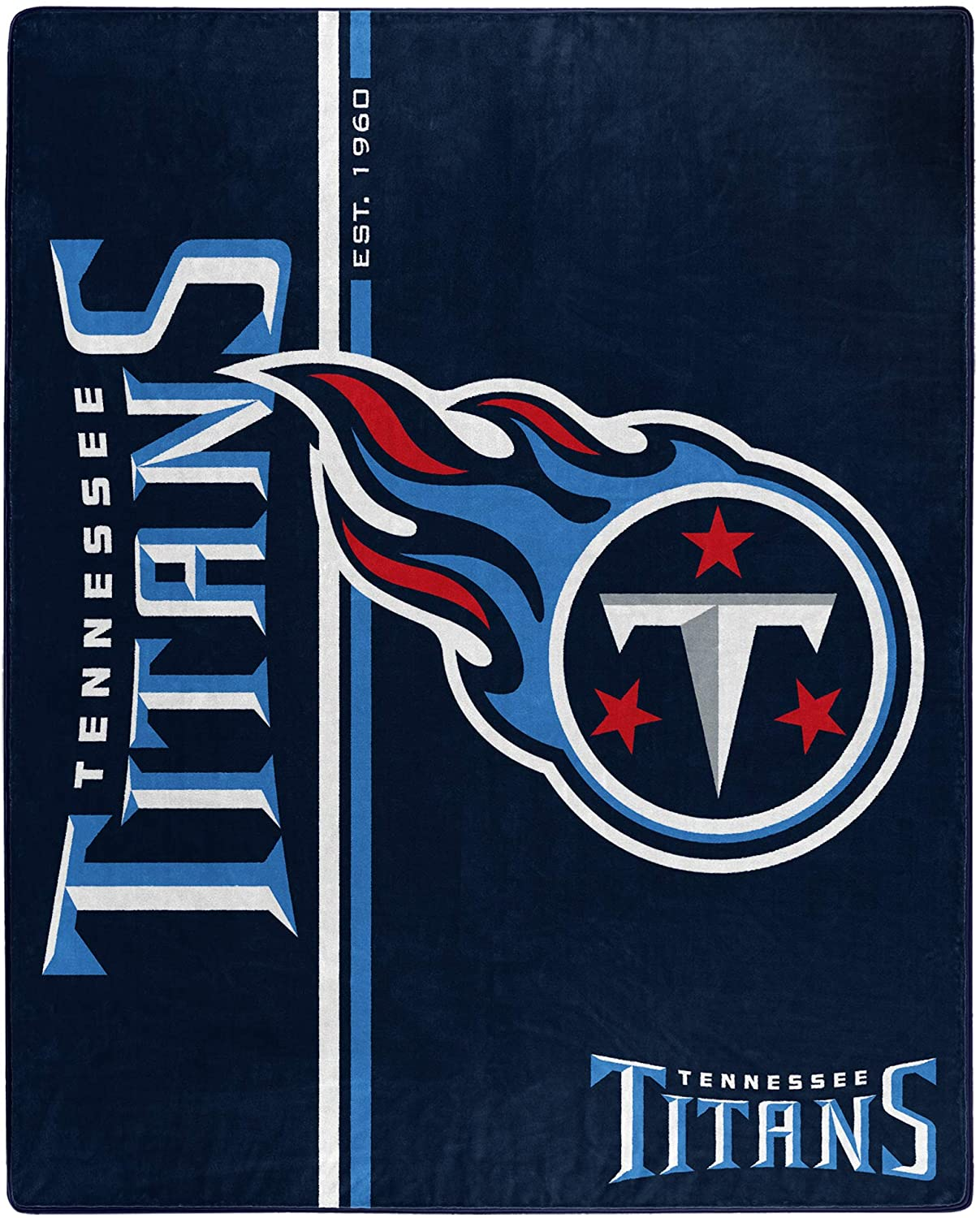 Nfl Throw Tennessee Titans Team Colors Fleece Blanket