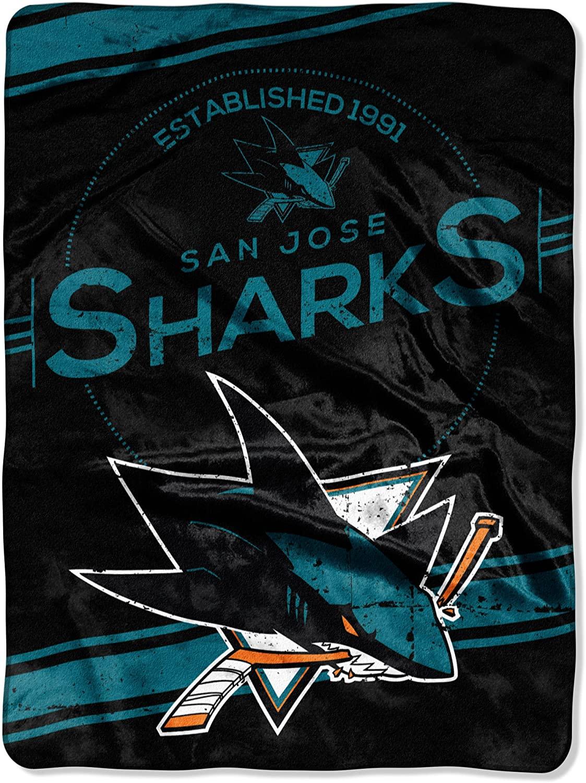 Nhl San Jose Sharks Fleece Blanket