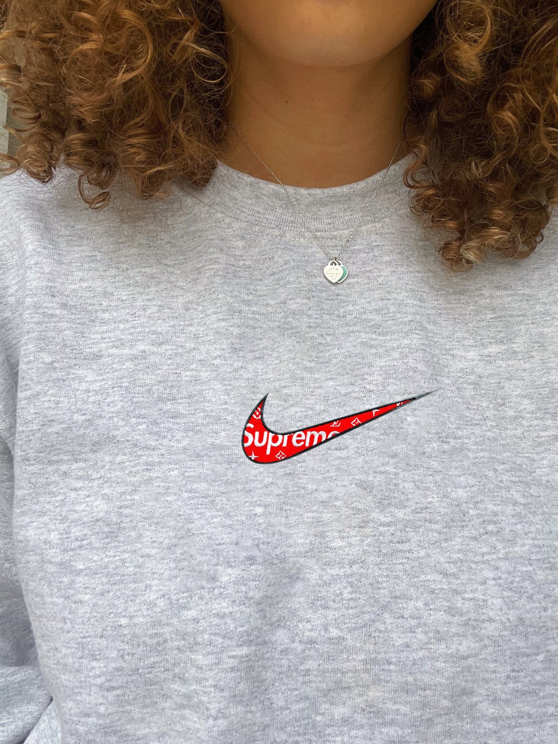 Nike Supreme Embroidered Swoosh Sweatshirt/t-shirt/hoodie Embroidery