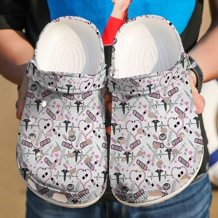 Nurse Collection Pink Crocs Clog Shoes