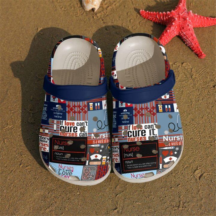 Nurse Love Care Crocs Clog Shoes